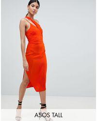ASOS Vestido midi - Naranja
