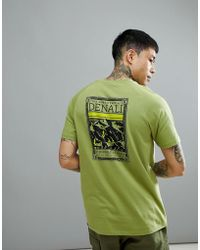 The North Face - North Faces T-shirt Denali Back Print In Green - Lyst