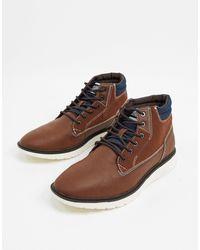 Jack & Jones Коричневые Ботинки Из Искусственного Нубука Со Шнуровкой И Белой Подошвой -коричневый