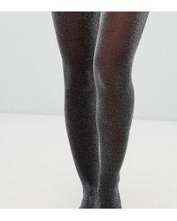 294735ae5b5 Lyst - ASOS Silver Lurex Socks in Metallic