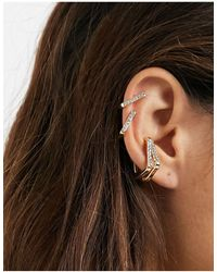 ASOS Pack Of 4 Ear Cuffs - Metallic