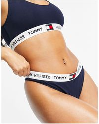 Tommy Hilfiger – 85 – Tanga mit Logo - Blau