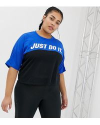 bac40b98f Nike - Nike Plus Running Tailwind T-shirt In Blue Color Block - Lyst