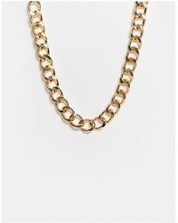ASOS - Золотистое Ожерелье-цепочка С Крупными Звеньями 17 Мм - Lyst