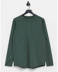 ASOS 4505 Longline Training Long Sleeve T-shirt - Green