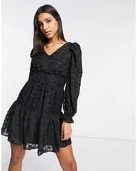 Y.A.S Mini Dress With Ruched Waist - Black