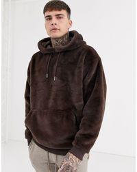 ASOS Oversized Faux Fur Hoodie - Multicolour