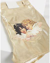 Fiorucci Angels Patch Metallic Shorts