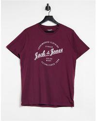 Jack & Jones - Красно-коричневая Футболка С Круглым Логотипом Originals-красный - Lyst