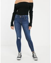 Bershka Push Up-jeans - Blauw