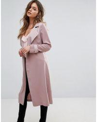 Miss Selfridge Manteau long habillé - Rose
