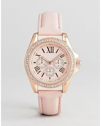 ALDO Fossatillo Rose Gold Watch & Bracelet Gift Set - Metallic