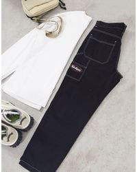 Kickers Classic Carpenter Trousers With Contrast Stitch - Black