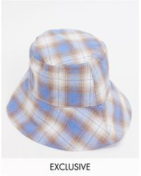 Glamorous Exclusive Bucket Hat With Wide Brim - Blue