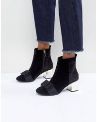 Miss Kg - Talisa Bow Boots - Lyst