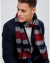 French Connection - Checked Scarf - Lyst