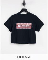 Columbia CSC River - T-shirt nera con stampa sul retro - Nero