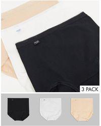Sloggi Basic Maxi High Waist Cotton 3 Pack Panties - Multicolour