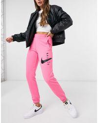 Nike - Розовые Свободные Джоггеры С Логотипом-галочкой Plus-розовый - Lyst