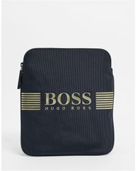 BOSS by Hugo Boss Темно-синяя Сумка Через Плечо С Логотипом -темно-синий