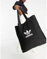 adidas Originals Adicolor - Canvas Tote Met Groot Logo - Zwart