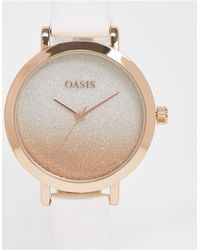 Oasis White And Gold Watch