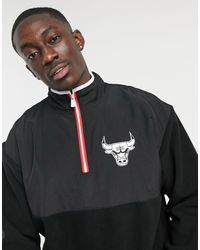 KTZ Nba Chicago Bulls Half-zip Fleece - Black