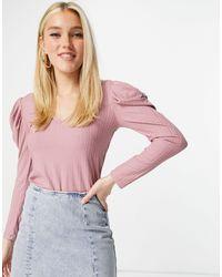Lipsy - Розовый Топ С Пышными Рукавами -розовый Цвет - Lyst