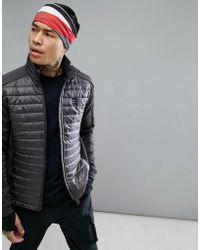 00283553a Oxi Prima Nylon Ripstop Primaloft Jacket In Grey - Gray