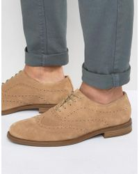 Vagabond Salvatore Oxford Suede Brogue Shoes - Natural