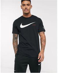 Nike T-shirt Met Swoosh-logo - Zwart