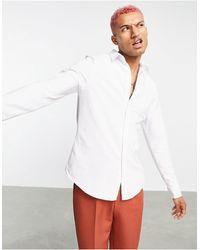 Ban.do Rudie Jersey Pique Button Down Slim Fit Shirt - White