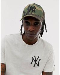 KTZ – MLB 9Forty NY Yankees – Verstellbare Kappe mit Military-Muster - Grün