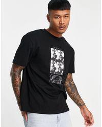 ASOS T-shirt With Tupac Print - Black