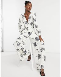 Glamorous - Pantalon large d'ensemble à grosses fleurs - Lyst