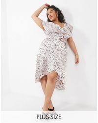 NaaNaa Plus Frill Midi Dress - Pink
