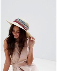 Liquorish - Summer Straw Floppy Hat - Lyst