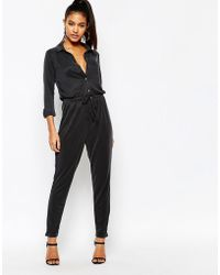 Lipsy - Lightweight Jumpsuit With Drawstring Waist - Lyst