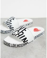 Love Moschino Logo Slider - Black