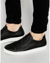 SELECTED Dylan Leather Sneakers - Black