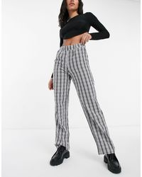 Noisy May Annie Lose Straight Leg Trousers - Multicolour