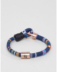 Icon Brand | Aztec Woven Bracelet In Blue | Lyst