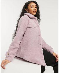 Threadbare Abrigo lila estilo camisa - Morado