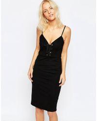 Isla Tie Me Up Dress - Black