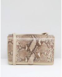 Modalu - Leather Shoulder Bag In Faux Snake Mix - Lyst