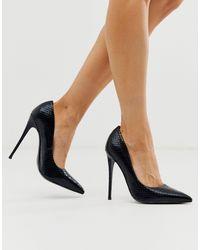 ASOS Penelope Stiletto Court Shoes - Black