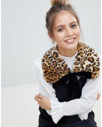 Monki - Faux Fur Collar - Lyst