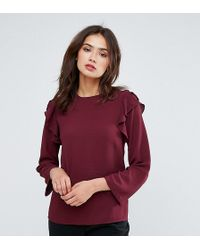 Y.A.S - Ruffle Flared Sleeve Top - Lyst