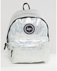 Hype Backpack In Holographic Silver - Metallic
