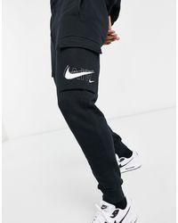 Nike Черные Джоггеры Карго С Манжетами Air Print Pack-черный Цвет